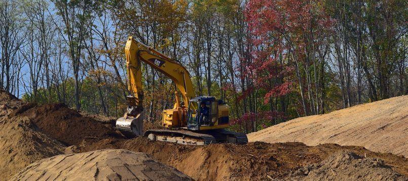 Földmunkák elvégezése házépítéskor